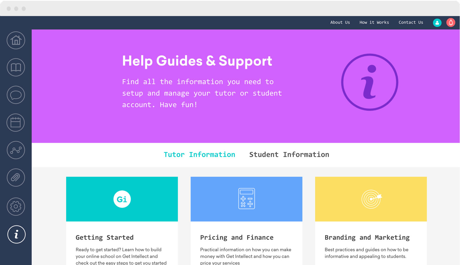 GI Student Dashboard -Guides